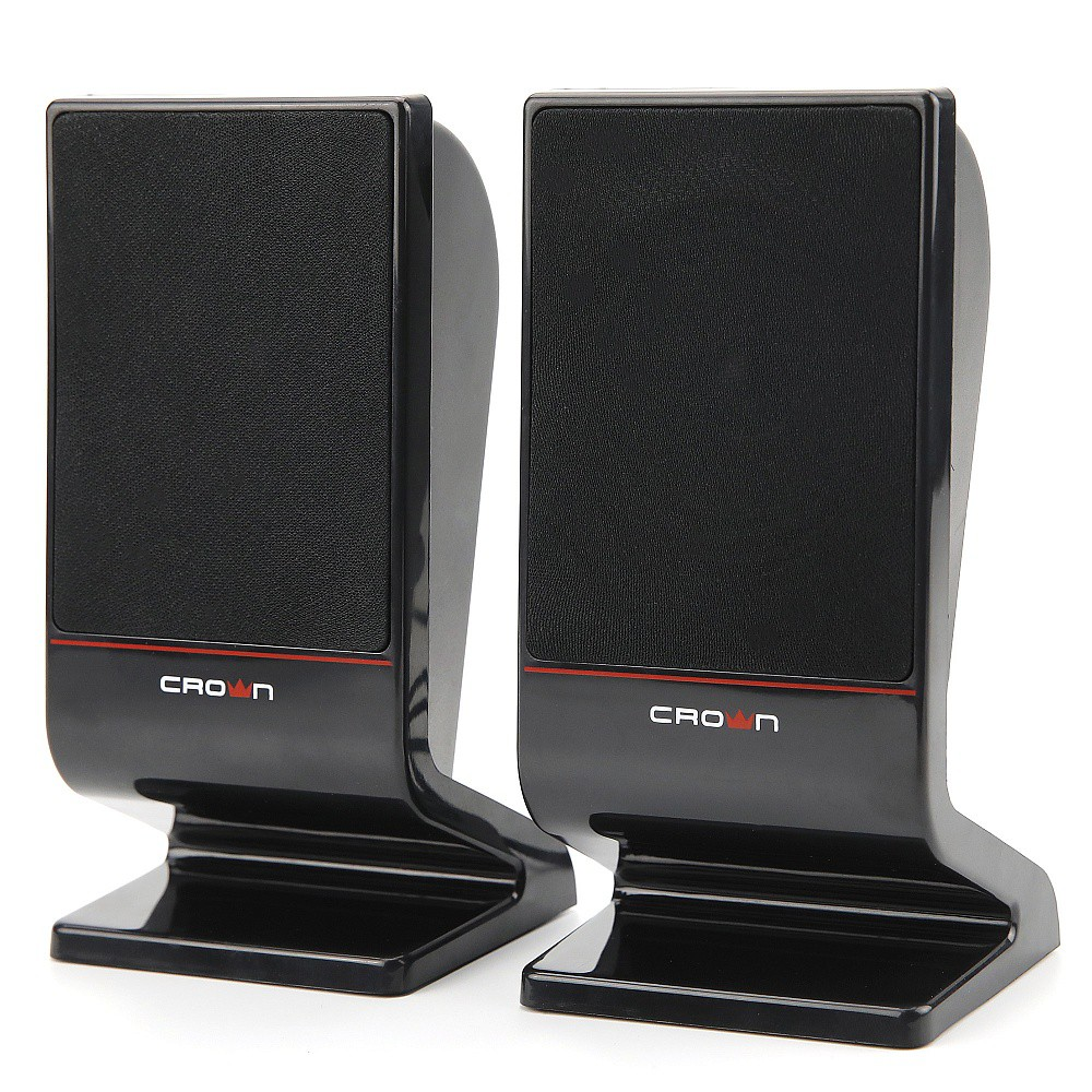 Колонки Crown CMS-601 Black-Red (6W, USB)