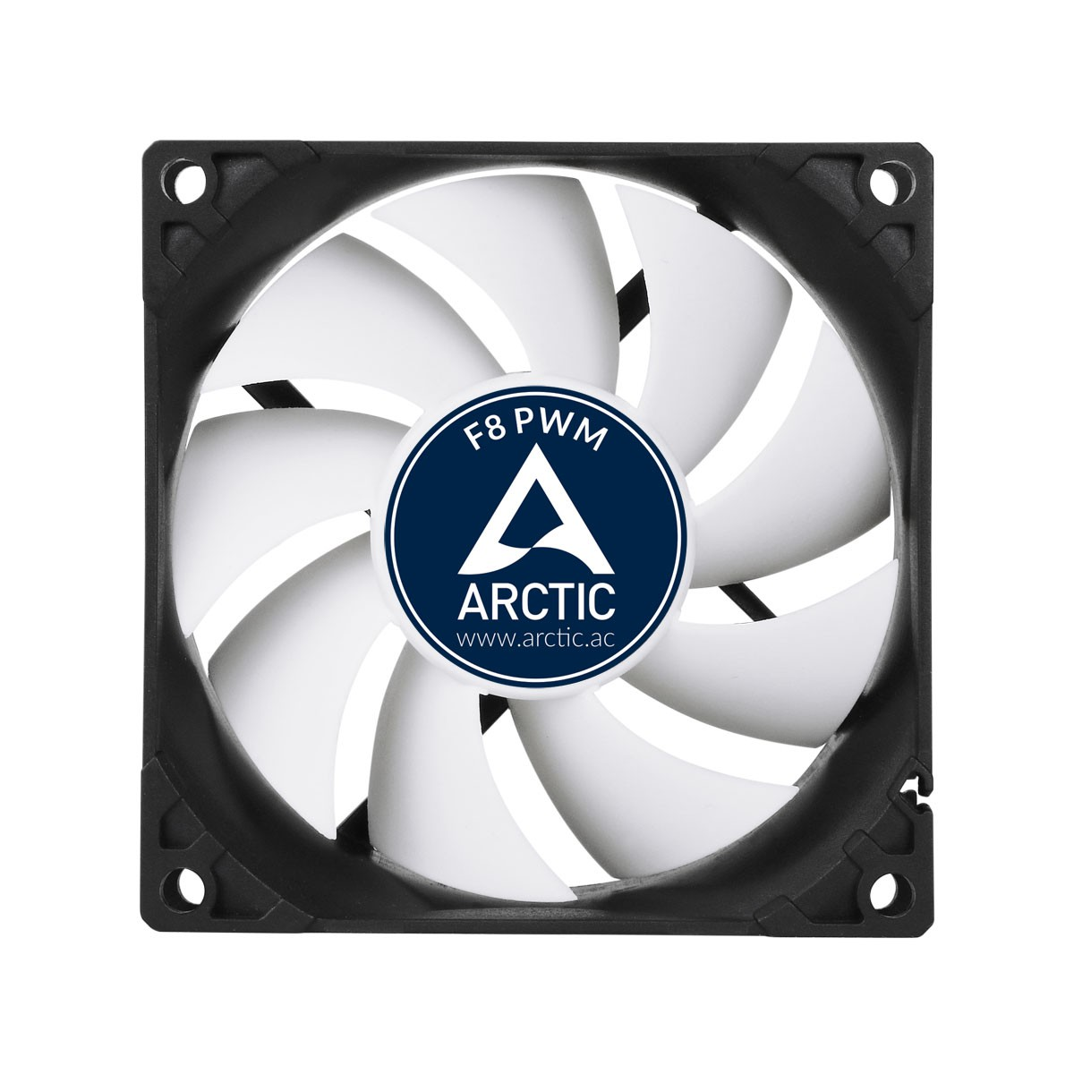 Вентилятор Arctic Cooling F8 PWM (AFACO-080P2-GBA01) (80mm, 300-2000rpm, 31CFM, 22.5dBa, 4-pin)