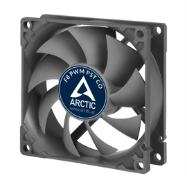Вентилятор Arctic Cooling F8 PWM PST CO (AFACO-080PC-GBA01) Black (80mm, 300-2000rpm, 31CFM, 22.5-24.5dBa, Dual Ball, 4-pin+PST)