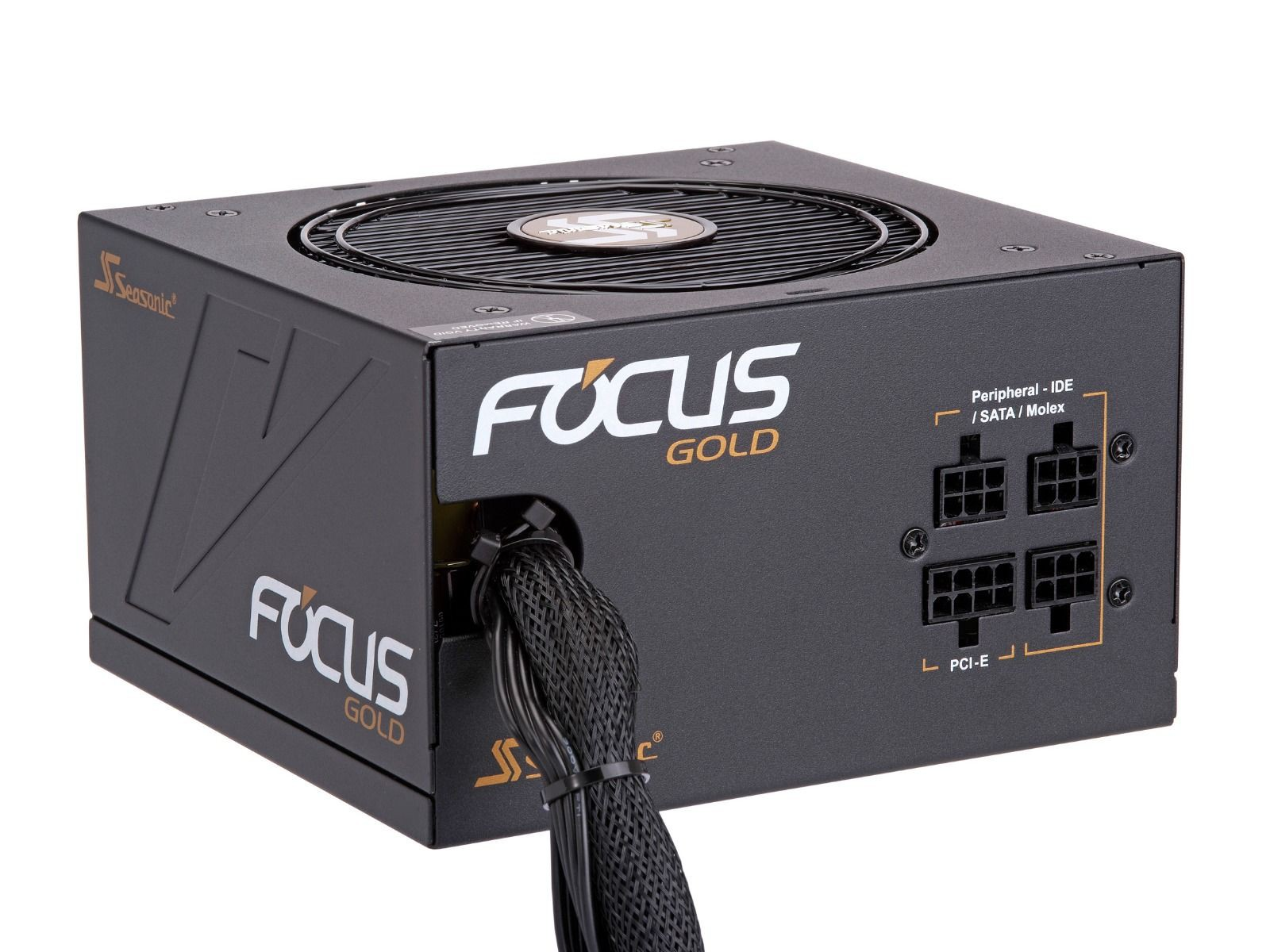 Блок питания 450W Seasonic FOCUS 450 Gold (SSR-450FM) (120мм, 24+8pin, 2x6/8pin, 3хSATA, 4xMolex, 80 PLUS Gold)
