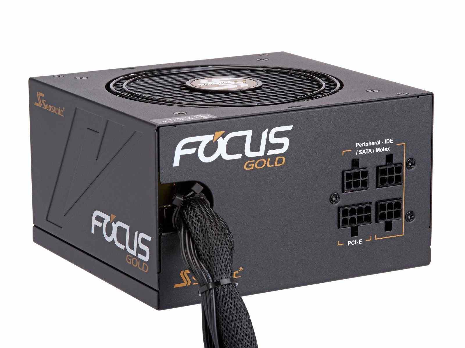 Блок питания 750W SeaSonic Focus Gold (SSR-750FM) (120мм, 24+8pin, 4x6/8pin, 3xMolex, 8xSATA, полумодульный, 80 PLUS Gold)