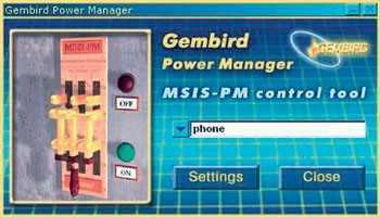 Сетевой фильтр Gembird MSIS-PM 1xProgrammable USB Socket