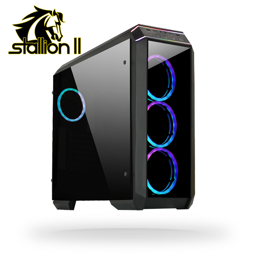 Корпус Chieftec Stallion II (GP-02B-OP) RGB Rings USB 3.1 без БП 4xFan