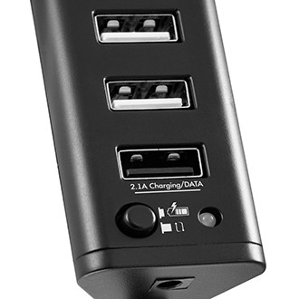 Разветвитель USB GINZZU GR-315UAB 7port (1xUSB3.0+6xUSB2.0)+adapter