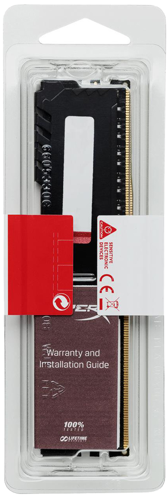 Модуль памяти 4Gb Kingston HyperX Fury (HX432C16FB3/4) 3200MHz PC-25600