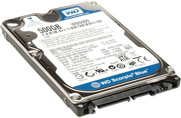 Жесткий диск 500Gb Western Digital Blue WD5000LPVX (SATA-3 5400RPM 8MB)