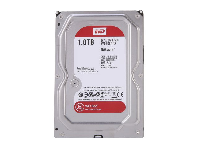 Жесткий диск 1Tb Western Digital Red WD10EFRX SATA-3