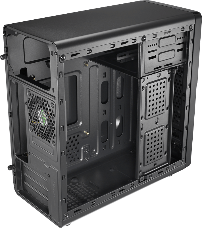 Корпус Aerocool Qs-183 Black (Minitower, microATX, Fan)