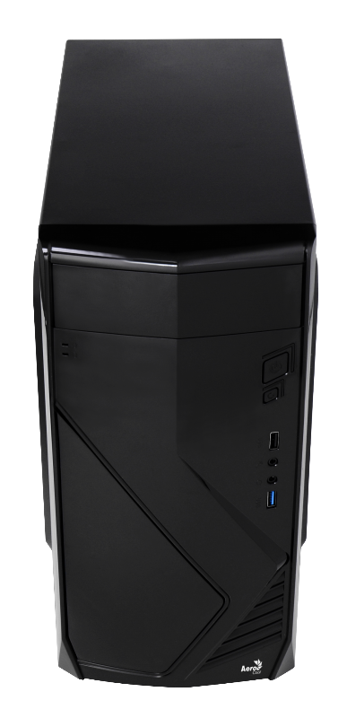 Корпус Aerocool CS-102 Black (Minitower, microATX, USB3, Fan)