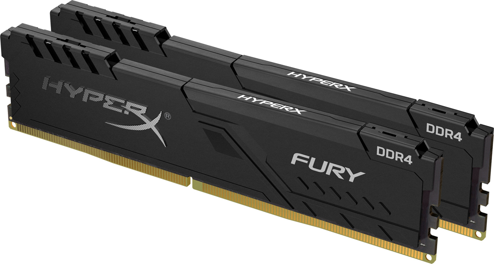 Модуль памяти 16Gb (2*8Gb) Kingston HyperX Fury (HX432C16FB3K2/16) 3200MHz PC-25600