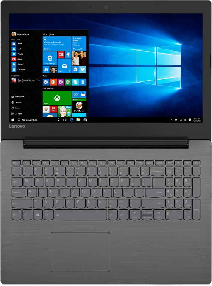 "Ноутбук Lenovo IdeaPad 320-15IKB (80YE009ERK) Black-Grey 15.6"" (1366x768)/ Core i5-7200U/ 4Gb/ 500Gb/ Radeon 530/ Windows 10"