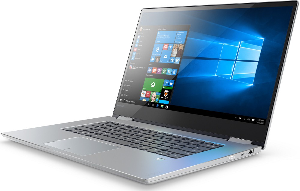 "Ноутбук Lenovo Yoga 720-15IKB (80X700B5RU) Silver 15.6"" (1920x1080) сенсорный/ Core i5-7300HQ/ 8Gb/ 256Gb SSD/GeForce GTX 1050 2Gb/ Windows 10"
