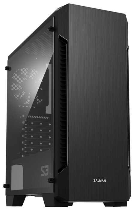 Корпус Zalman S3 Black (Miditower, ATX, USB3, Fan, Window)