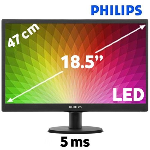 "Монитор 18.5"" Philips 193V5LSB2/62 Black (1366x768, VGA)"