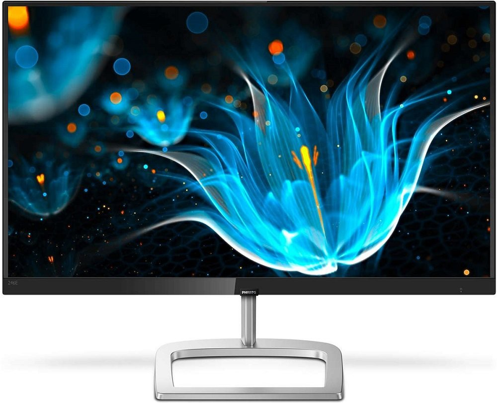 "Монитор 23.8"" Philips 246E9QJAB/00 Silver/Black (1920x1080, IPS, Flicker free, FreeSync, HDMI+D-Sub (VGA)+DisplayPort, динамики)"