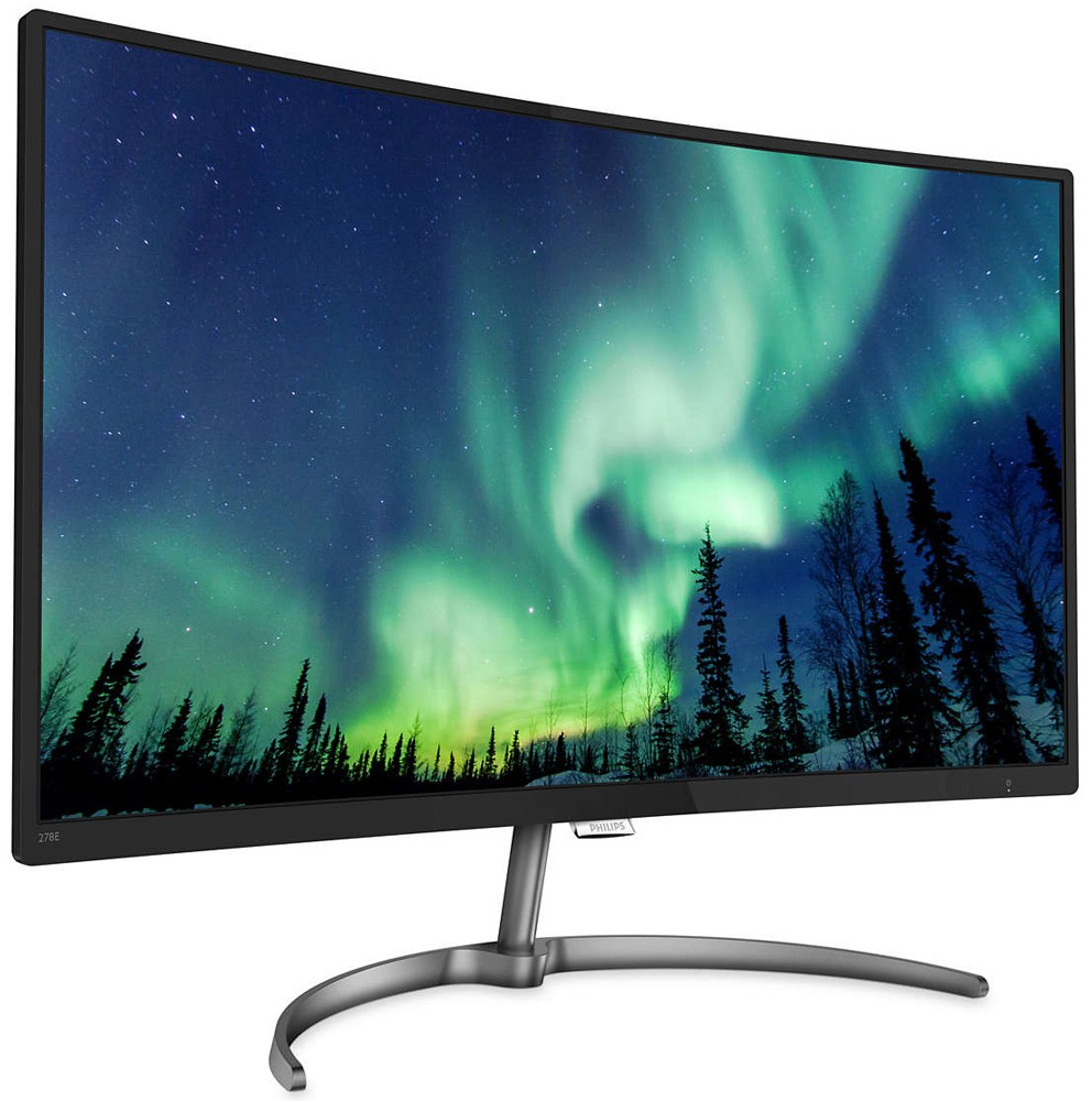 "Монитор 27"" Philips 278E8QJAB/01 Black (1920x1080, VA, Flicker free, FreeSync, D-Sub (VGA), HDMI, DisplayPort, изогнутый, встроенные колонки)"