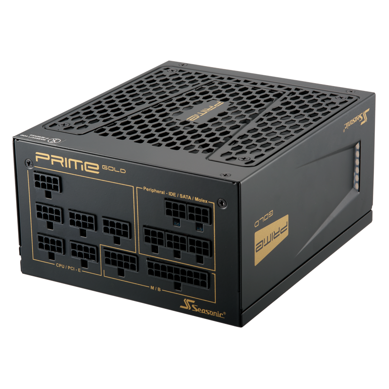 Блок питания 850W Seasonic Prime SSR-850GD Active PFC F3 Gold (120мм, 24+8+8pin, 6х6/8pin, 5xMolex, 10xSATA, 80Plus GOLD, APFC)