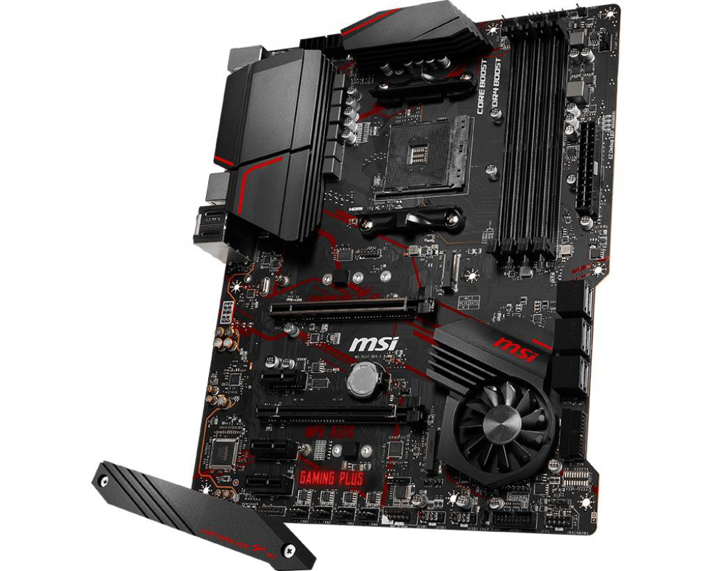 Материнская плата MSI MPG X570 GAMING PLUS X570 4xDDR4-4400 2xPCI-Ex16x 2xM.2 RGB USB 3.2 gen2 (A,C) ATX (Socket AM4)