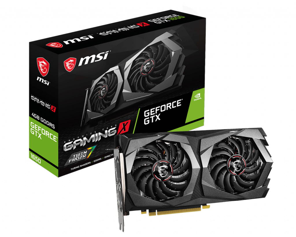 Видеокарта 1650 MSI GTX 1650 GAMING X 4G 4Gb DDR5 128bit 1860/8000MHz