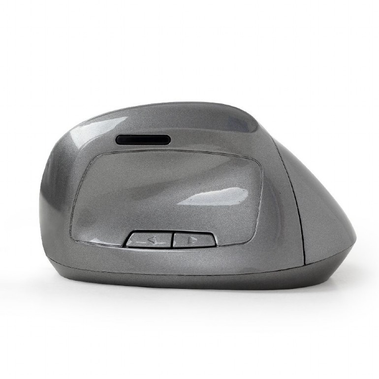 Мышь Gembird MUSW-ERGO-02 Silver (6-клавиш, 800-1600DPI, Wireless)