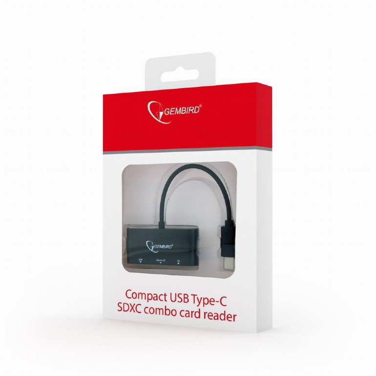 Картридер Cablexpert UHB-CR3-02 USB Type-C for SD/SDXC card