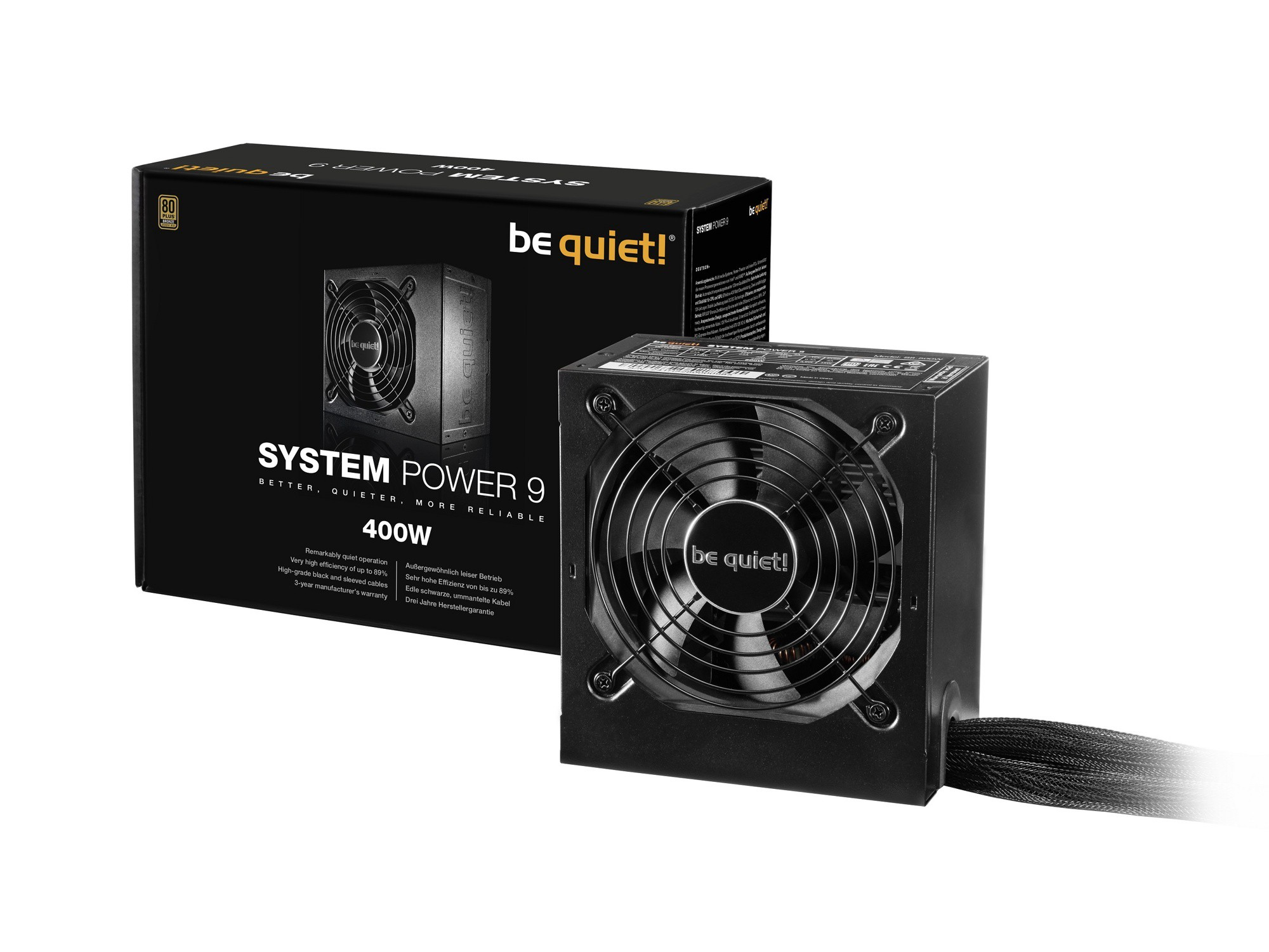 Блок питания 400W be quiet! System Power 9 (BN245) (24+8pin, 2x6/8pin, 2xMolex, 5xSATA, 80+ Bronze)