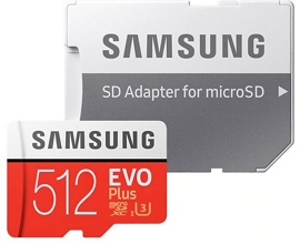 Карта памяти 512Gb Samsung EVO+ MB-MC512HA