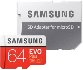 Карта памяти 64Gb Samsung EVO Plus microSDXC 64Gb (MB-MC64HA/RU) 2020