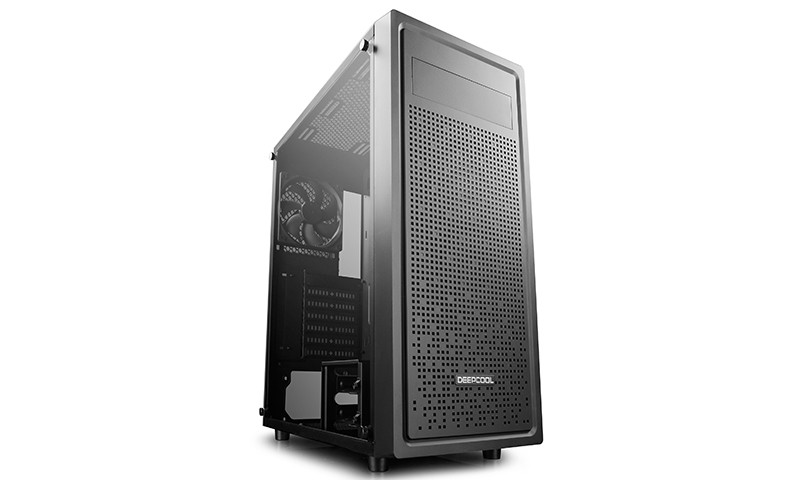 Корпус DeepCool E-Shield (DP-ATX-E-SHIELD) Balck (Miditower, ATX, 2xUSB 2.0, 1xUSB 3.0, окно, 1 вентилятор, блок снизу)
