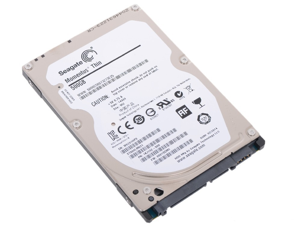 Жесткий диск 500Gb Seagate Laptop Thin ST500LM021 (SATA-3 7200rpm 32Mb)