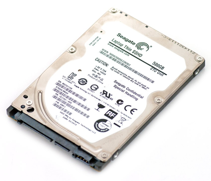 Жесткий диск 500Gb Seagate ST500LM000 + SSD(SLC) 8GB Laptop Thin SATA-3 5400rpm 64Mb