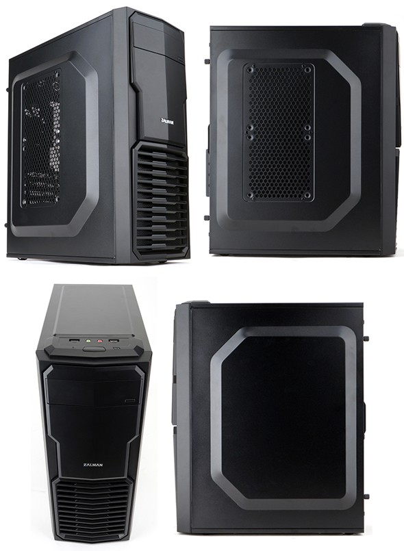 Корпус Zalman ZM-T4 Black Minitower microATX USB3 Fun