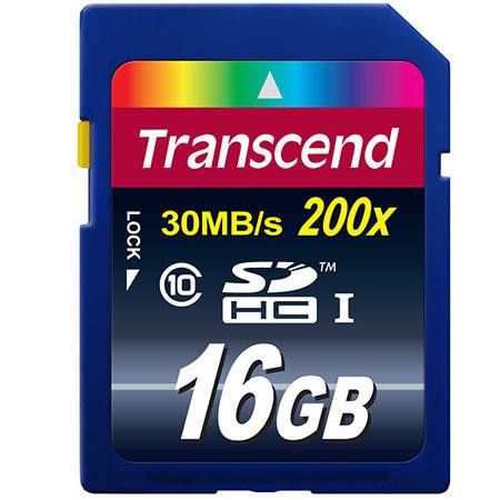 Карта памяти 16GB Transcend TS16GSDHC10 SDHC class 10 (Ultimate)