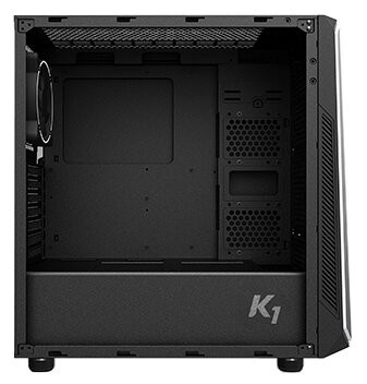 Корпус Zalman K1 Black (Miditower, ATX, RGB, Fan, 2xUSB3.0, Window)