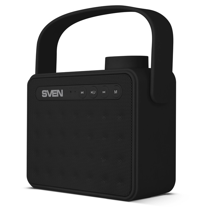 Колонки Sven PS-72 Black (6W, Bluetooth, FM, USB, аккумулятор)