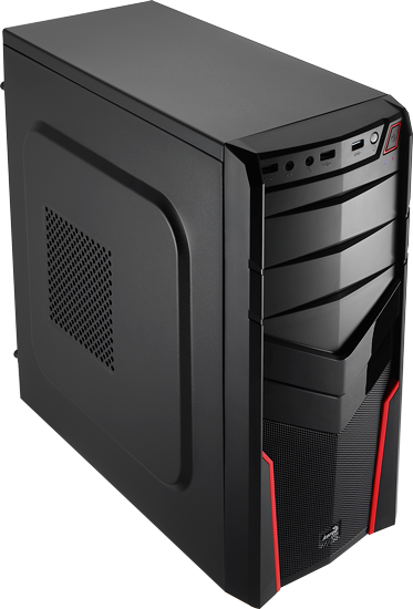 Корпус Aerocool V2X Red Miditower ATX USB3 Fan
