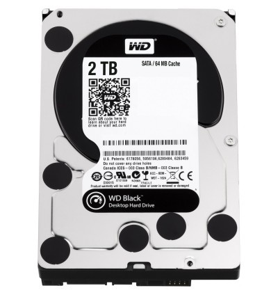 Жесткий диск 2Tb Western Digital WD2003FZEX Black SATA-3 7200rpm 64Мб