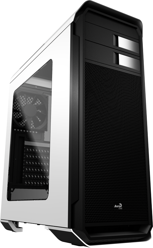 Корпус AeroCool Aero-500 Window White (Bigtower, ATX, USB 3.0, Fan, Window)