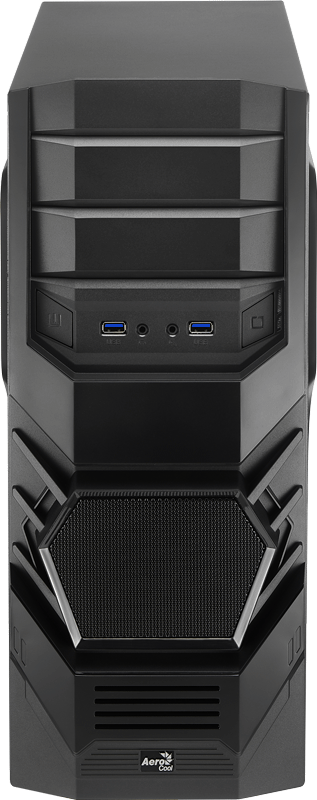 Корпус Aerocool Cyclops ADVANCE Black (Miditower, ATX, USB 3.0, Fan, Window)