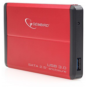 "���� ��� �������� ����������� HDD Gembird EE2-U3S-2-R (2.5""hdd SATA, USB3.0, RED)"