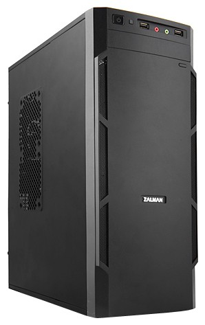 Корпус Zalman ZM-T1 Black (Minitower microATX Fan)